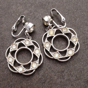 Vintage Silver Drop Earings by Sarah Coventry